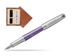 Parker Urban Premium Violet CT Fountain Pen   single wooden box  Mahogany Single Ecru