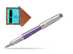 Parker Urban Premium Violet CT Fountain Pen   single wooden box  Mahogany Single Turquoise
