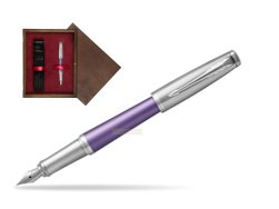 Parker Urban Premium Violet CT Fountain Pen   single wooden box  Wenge Single Maroon