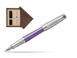 Parker Urban Premium Violet CT Fountain Pen   single wooden box  Wenge Single Ecru