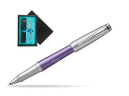 Parker Urban Premium Violet CT Rollerball Pen  single wooden box  Black Single Turquoise