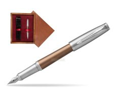 Parker Urban Premium Orange CT Fountain Pen   single wooden box Mahogany Single Maroon