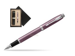 Parker IM Light Purple CT Fountain Pen  single wooden box  Wenge Single Ecru