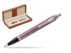 Parker IM Light Purple CT Ballpoint Pen  in classic box brown
