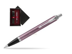 Parker IM Light Purple CT Ballpoint Pen  single wooden box  Black Single Maroon