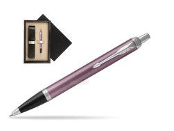Parker IM Light Purple CT Ballpoint Pen  single wooden box  Wenge Single Ecru