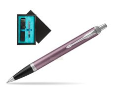 Parker IM Light Purple CT Ballpoint Pen  single wooden box  Black Single Turquoise