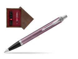 Parker IM Light Purple CT Ballpoint Pen in single wooden box  Wenge Single Maroon