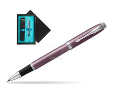 Parker IM Light Purple CT Rollerball Pen  single wooden box  Black Single Turquoise