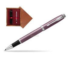 Parker IM Light Purple CT Rollerball Pen  single wooden box Mahogany Single Maroon