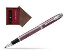 Parker IM Light Purple CT Rollerball Pen  single wooden box  Wenge Single Maroon