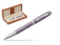 Parker IM Premium Dark Violet CT Fountain Pen  in classic box brown
