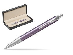 Parker IM Premium Dark Violet CT Ballpoint Pen  in classic box  pure black