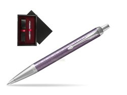 Parker IM Premium Dark Violet CT Ballpoint Pen  single wooden box  Black Single Maroon