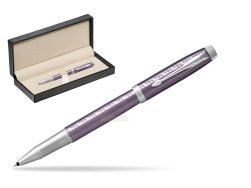 Parker IM Premium Dark Violet CT Rollerball Pen  in classic box  pure black