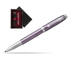Parker IM Premium Dark Violet CT Rollerball Pen  single wooden box  Black Single Maroon