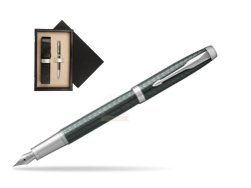 Parker IM Premium  Pale Green CT Fountain Pen  single wooden box  Wenge Single Ecru