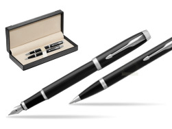Parker IM Black CT 2016 Fountain Pen + Ballpoint Pen in a Gift Box  in classic box  black