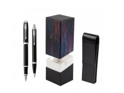 Parker IM Black CT 2016 Fountain Pen + Ballpoint Pen in a Gift Box  StandUP Crazy line