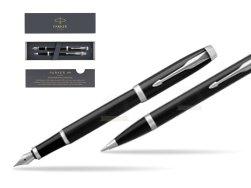 Parker IM Black CT 2016 Fountain Pen + Ballpoint Pen in a Gift Box
