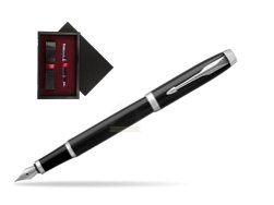 Parker IM Black CT Fountain Pen  single wooden box  Black Single Maroon