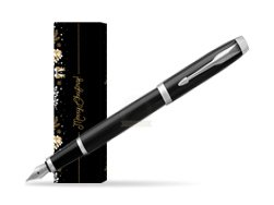 Parker IM Black CT Fountain Pen in cover Golden Tree