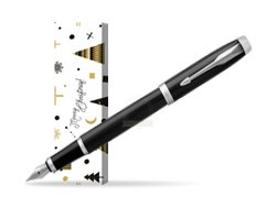 Parker IM Black CT Fountain Pen in cover Snow Gift
