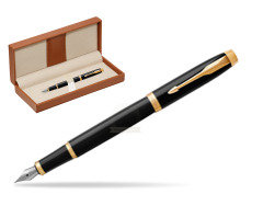 Parker IM Black GT Fountain Pen  in classic box brown