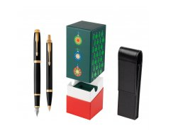 Parker IM Black GT Fountain Pen T2016 Fountain Pen + Ballpoint Pen in a Gift Box in gift box StandUP Christmas Tree