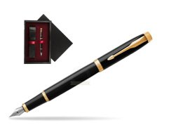 Parker IM Black GT Fountain Pen  single wooden box  Black Single Maroon