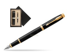 Parker IM Black GT Fountain Pen  single wooden box  Wenge Single Ecru