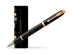 Parker IM Black GT Fountain Pen in cover Golden Tree