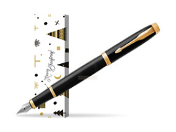 Parker IM Black GT Fountain Pen in cover Snow Gift