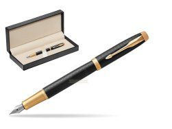 Parker IM Premium Black GT Fountain Pen  in classic box  pure black