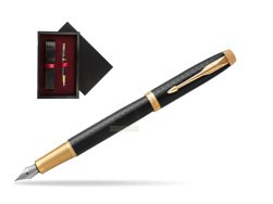 Parker IM Premium Black GT Fountain Pen  single wooden box  Black Single Maroon