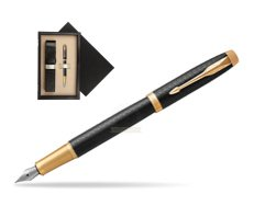 Parker IM Premium Black GT Fountain Pen  single wooden box  Wenge Single Ecru