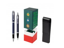Parker IM BLUE CT Fountain Pen T2016 Fountain Pen + Ballpoint Pen in a Gift Box  StandUP Christmas Tree