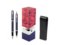Parker IM BLUE CT Fountain Pen T2016 Fountain Pen + Ballpoint Pen in a Gift Box  StandUP Hot Hearts