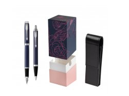 Parker IM BLUE CT Fountain Pen T2016 Fountain Pen + Ballpoint Pen in a Gift Box  StandUP Roses