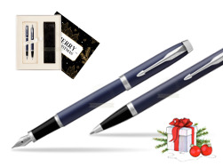 Parker IM BLUE CT Fountain Pen T2016 Fountain Pen + Ballpoint Pen in a Gift Box w Christmas Gift Box Magic of Christmas