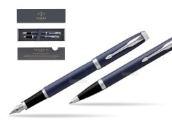 Parker IM BLUE CT Fountain Pen T2016 Fountain Pen + Ballpoint Pen in a Gift Box