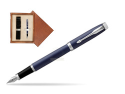 Parker IM BLUE CT Fountain Pen  single wooden box  Mahogany Single Ecru