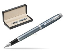 Parker IM Light Blue Grey CT Fountain Pen  in classic box  pure black
