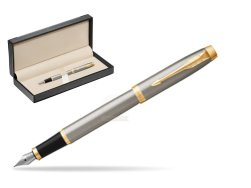 Parker IM Brushed Metal GT Fountain Pen  in classic box  black