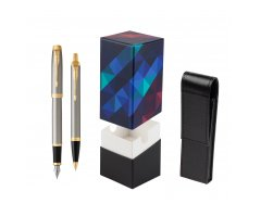 Parker IM Brushed Metal GT Fountain Pen T2016 Fountain Pen + Ballpoint Pen in a Gift Box  StandUP Kaleidoscope