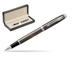 Parker IM Dark Espresso Lacque CT Fountain Pen  in classic box  black