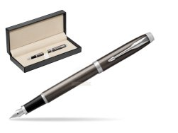 Parker IM Dark Espresso Lacque CT Fountain Pen  in classic box  pure black