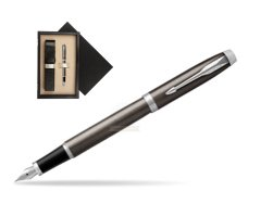 Parker IM Dark Espresso Lacque CT Fountain Pen  single wooden box  Wenge Single Ecru