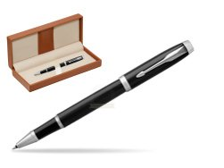 Parker IM Black CT Rollerball Pen  in classic box brown