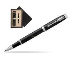 Parker IM Black CT Rollerball Pen  single wooden box  Wenge Single Ecru